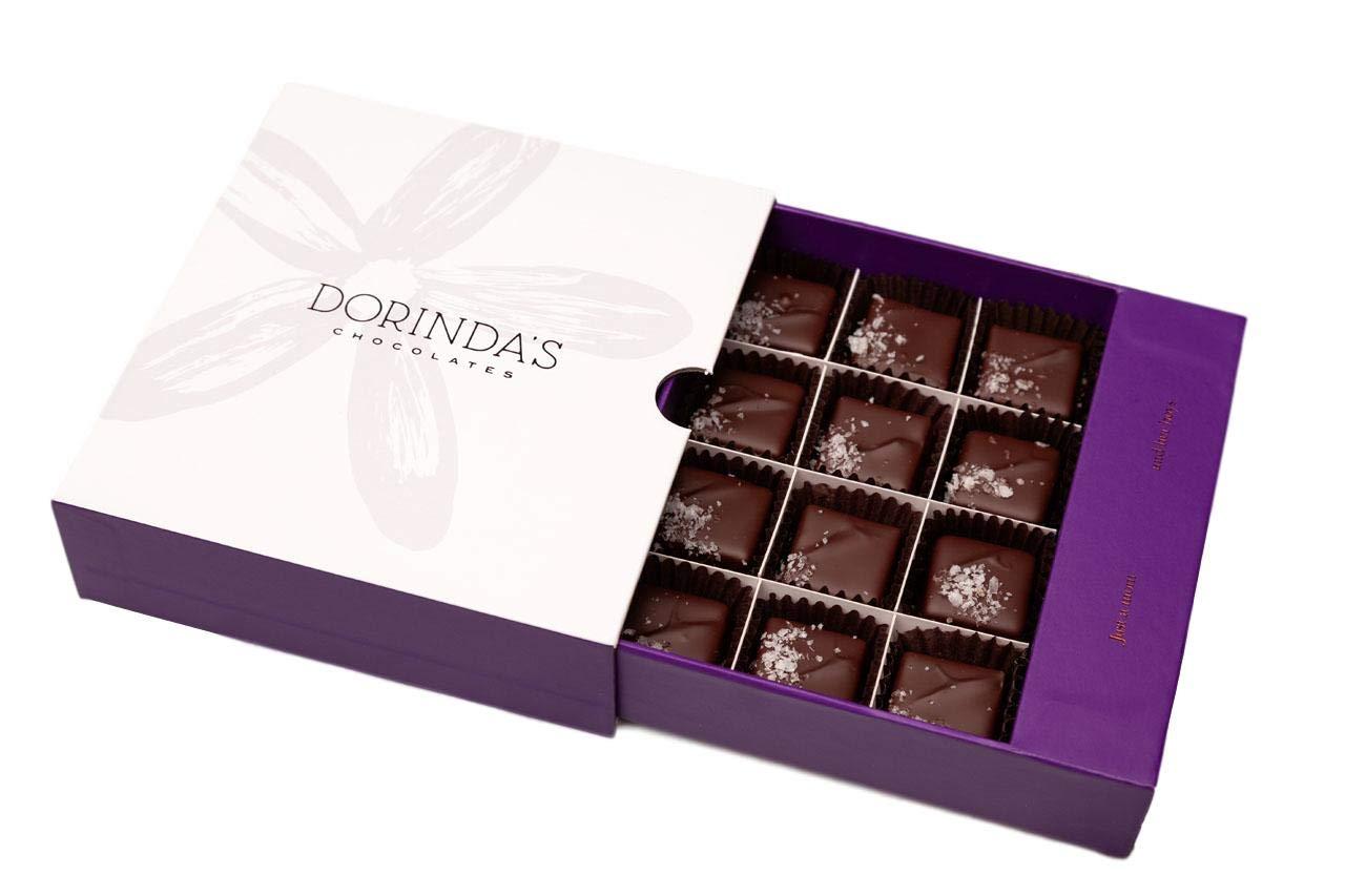 Dorinda's Chocolates Award Winning Sea Salt Caramels 12pc Box by Dorinda's Chocolates