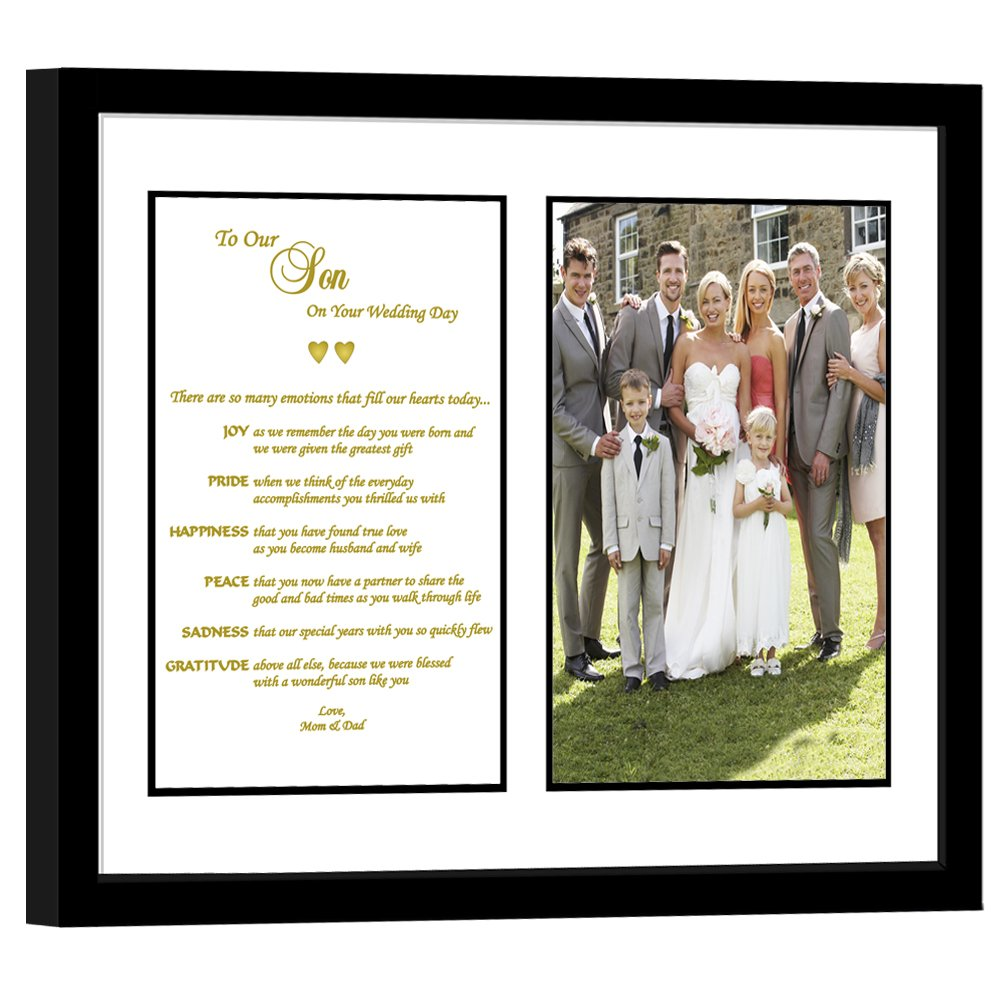 Amazon Son Wedding Gift From Parents Touching Poem From Mom