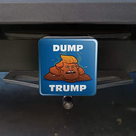 Graphics and More Dump Donald Trump with Poop Tow Trailer Hitch Cover Plug Insert