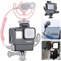 ULANZI V2 Multifunctional Vlogging Case w Cold Shoe Mount for Microphone LED Video Light,Wire Connectable Frame Housing Shell Cage Compatible w Gopro Hero 7 6 5 Action Camera Video and Vlog Creator