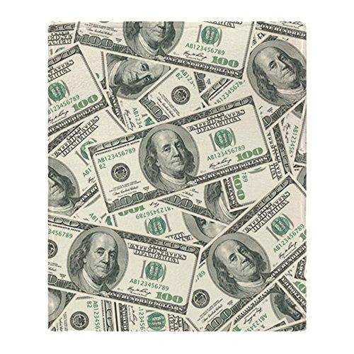 (CafePress - 100 Dollar Bill Money Pattern - Soft Fleece Throw Blanket, 50