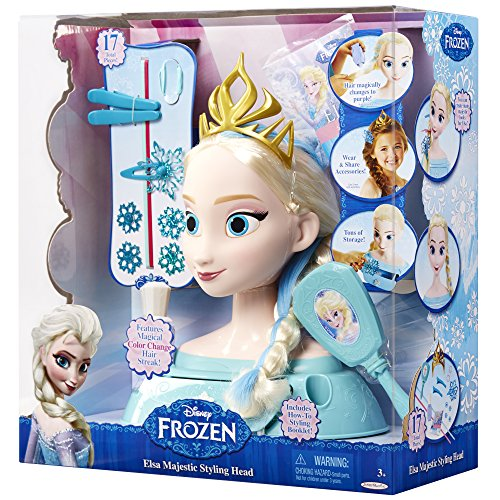 amazon com frozen elsa majestic styling head toys games