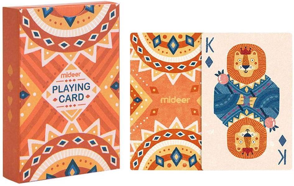 Juegos de Naipes Juegos de tamaño estándar Party Animal Puzzle Tarjeta de Juego de Mesa Colores Brillantes únicos para niños Mayores de 3 años y Adultos: Amazon.es: Deportes y aire libre