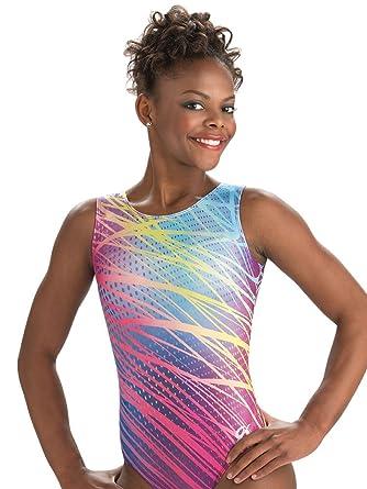 a521c682bf9a Amazon.com  GK Girls Rainbow Fields Gymnastics Leotard - Adult Large ...