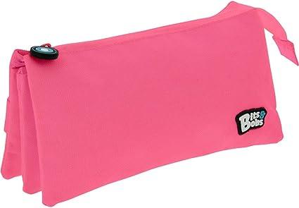 Grafoplás 37545454. Estuche Tres Compartimentos, Color Rosa, 23,5x12x14cm, Bits & Bobs: Amazon.es: Oficina y papelería
