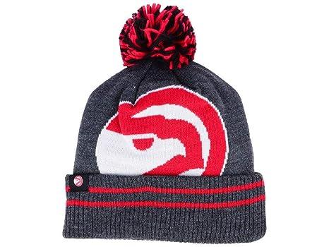 7405bd28edc9bc Mitchell & Ness Atlanta Hawks Hi5 Cuff Beanie Hat with Pom Pom - NBA Cuffed  Winter