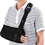 Yosoo Arm Sling - Dislocated Shoulder Sling for Broken Arm Immobilizer Wrist Elbow Support - Ergonomic, Lightweight, Breathable Mesh, Neoprene Padded Strap - Suits both Men & Women, One size (Adult)