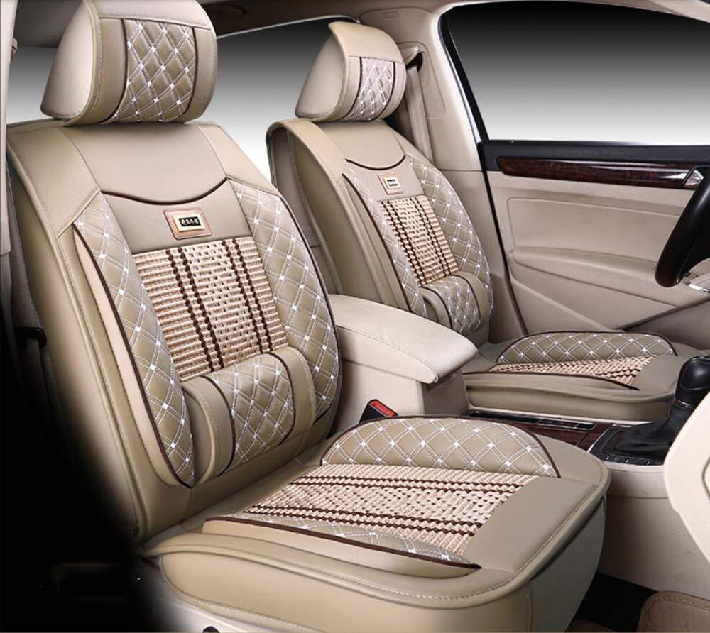 KADJAR Laguna Espace,Beige,CAPTUR CAPTUR Scenic M-X-Y-Z PU Leder Ice Silk Autositzbezug Kompatibel mit Renault Koleos