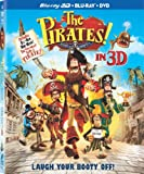 The Pirates! Band of Misfits [Blu-ray 3D + Blu-ray + DVD] (Bilingual)