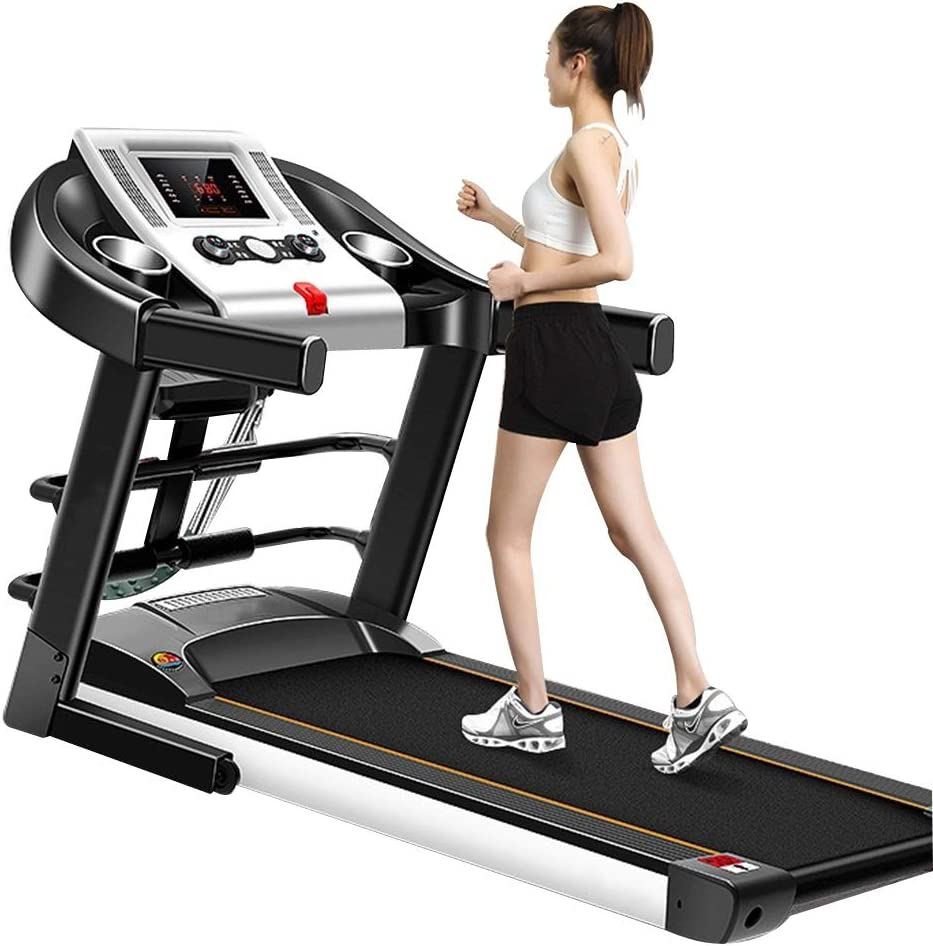 TOE Multifunctional Treadmill 1.0HP for Home Gym Hydraulic Folding Shock Absorption Ultra Silent with LED Display Running Machine