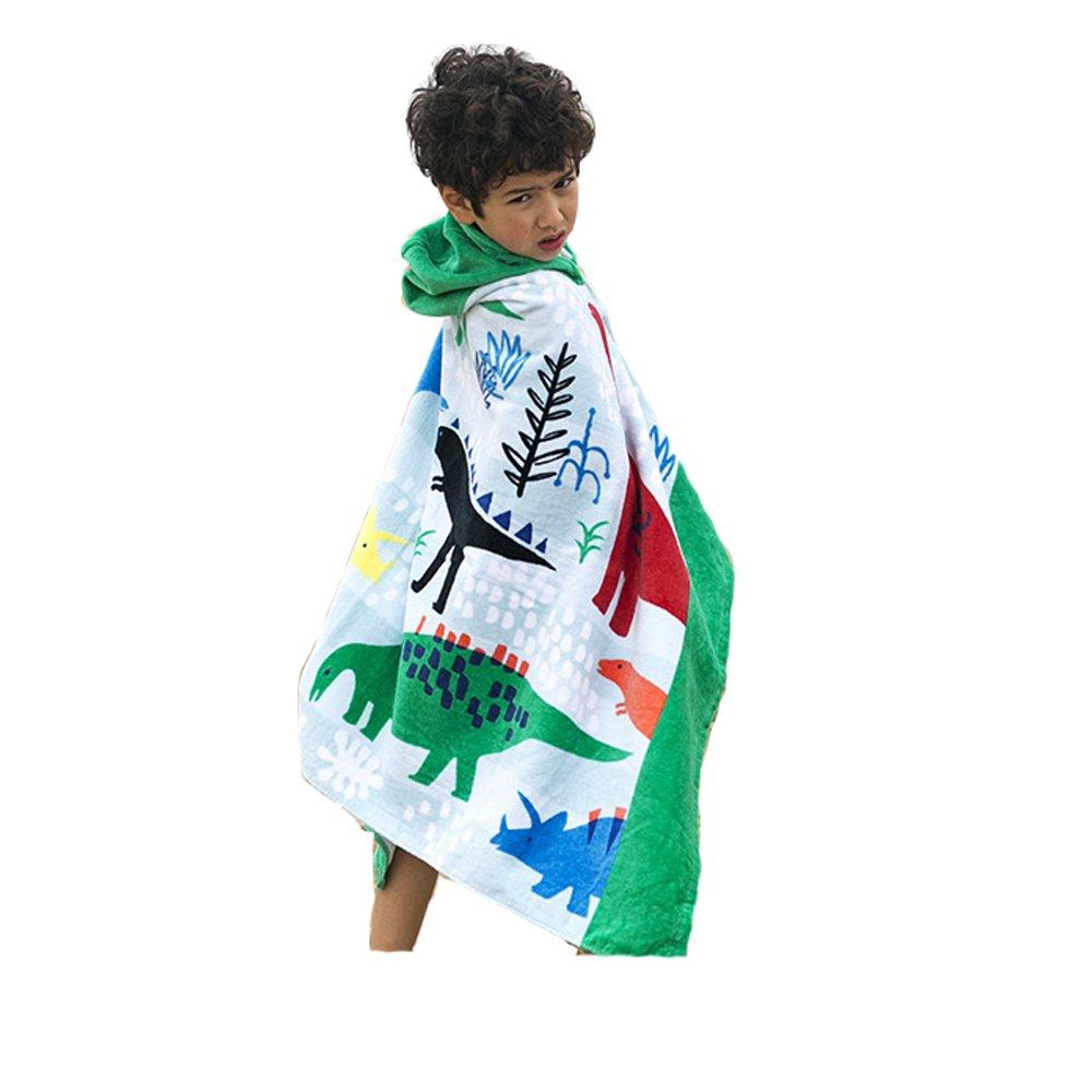 AteAte Cute Cartoon Baby Kid's Hooded Bath Towel Toddler Boy Girls Beach Towel New 100% Cotton 400 GSM(Bottom Fish)