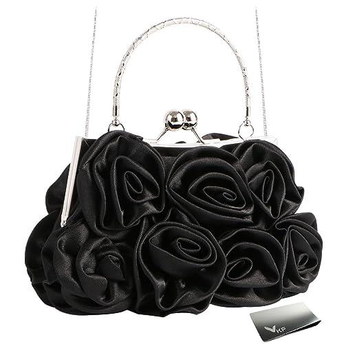 Amazon.com: Missy K 7 Roses - Monedero de satén, con correa ...