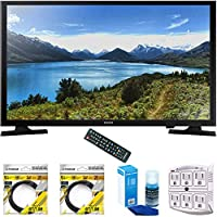 Samsung 32-Inch 720p LED TV 2015 Model (UN32J4000) with 2x 6ft High Speed HDMI Cable Black, Universal Screen Cleaner for LED TVs & Stanley SurgePro 6 NT 750 Joule 6-Outlet Surge Adapter