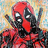 MR.BABES - ''Deadpool (Ryan Reynolds)'' - Original Pop Art Painting - Comic Book Movie Portrait