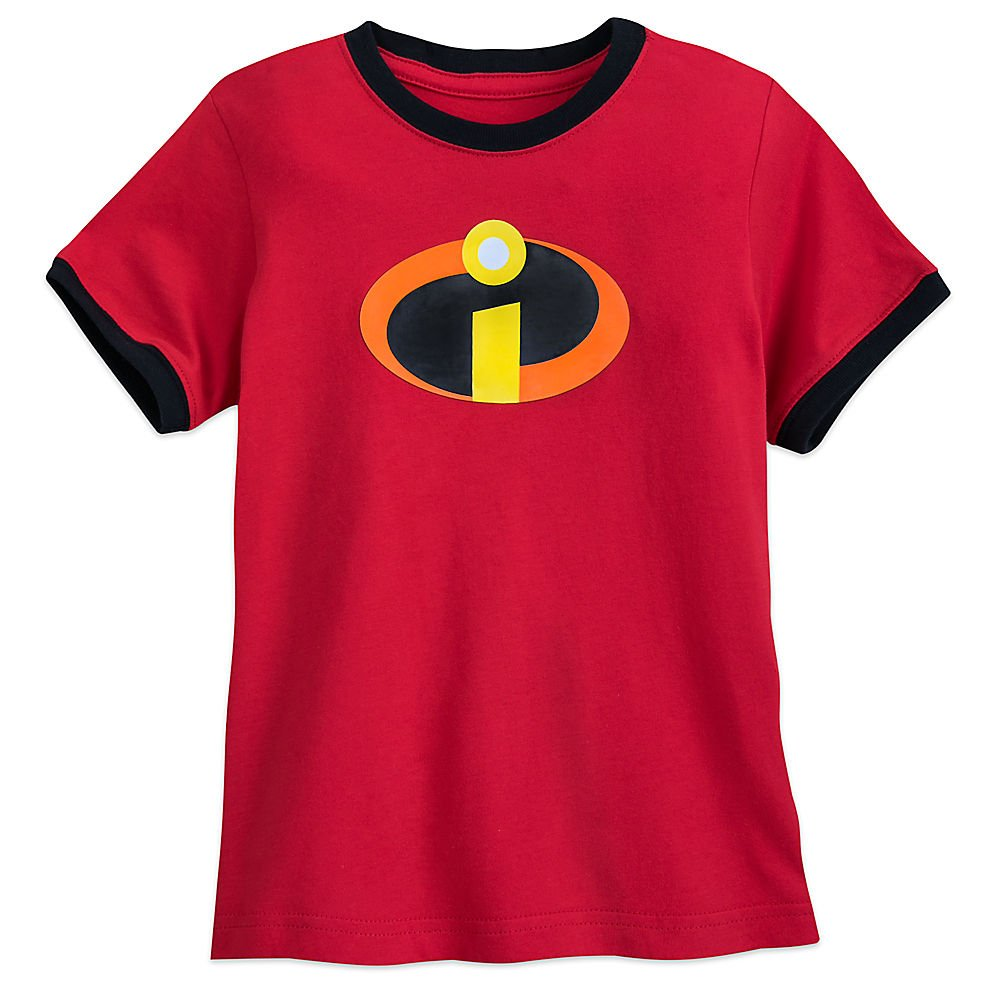 c00fdbad2 Top2: Disney Incredibles Logo Ringer T-Shirt for Boys Red