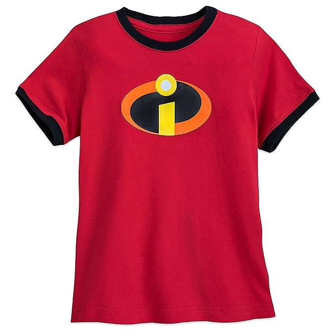 69039273 Amazon.com: Disney Incredibles Logo Ringer T-Shirt for Boys Red ...