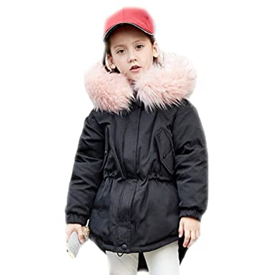 cde931a4b Amazon.com  Y·J Back home 3-9 Years Girls Thick Down Parka Coat Kids ...