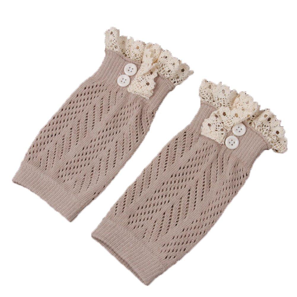 Jelinda Kids Girl's Lace Button Boot Cuffs Toppers Leg Warmer Socks JLDJI046