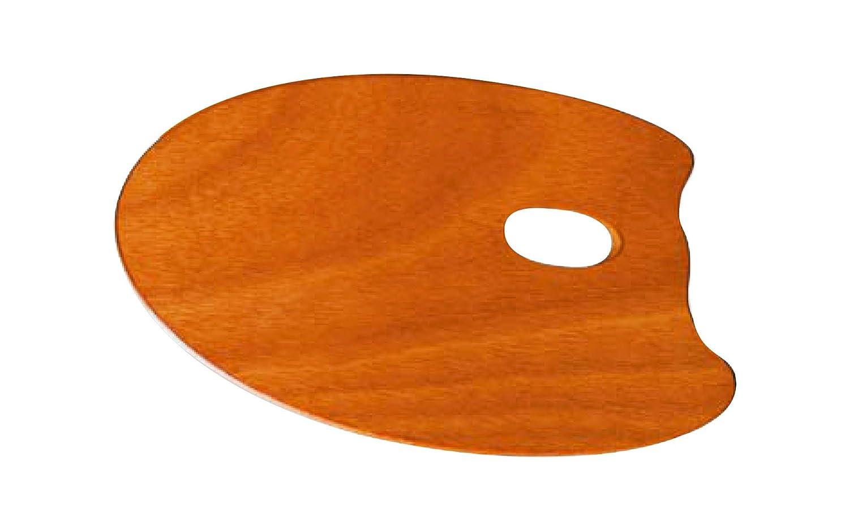 7950251 1pz. Tavolozza Mabef in Legno di Faggio Ovale Oleato Maimeri Dimensioni 20 x 30 cm