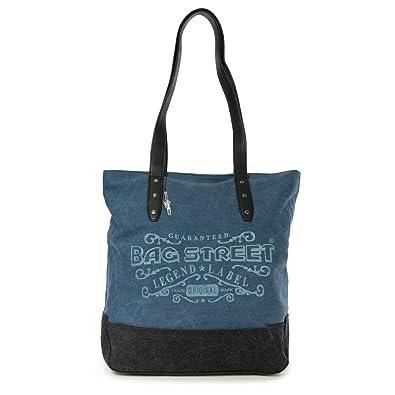 bb59a2f750695 imppac Beuteltasche navyblau Canvas Schultertasche Handtasche Bag Street  OTJ219B