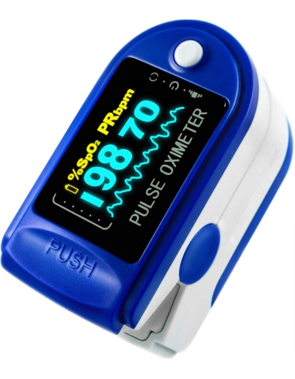 Fingertip Pulse Oximeter, Oxygen Saturation Monitor with Colour Display - Lanyard and Batteries (FDA Approved)…