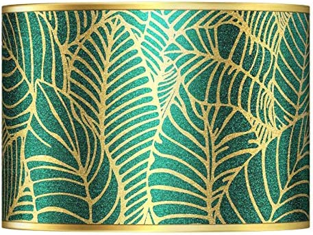 Tropical Leaves Gold Metallic Lamp Shade 13.5×13.5×10 Spider – Giclee Gallery