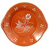 Portuguese Traditional Deep Dish With Handles Clay Terracotta Pottery Made In Portugal (N.3 11.5
