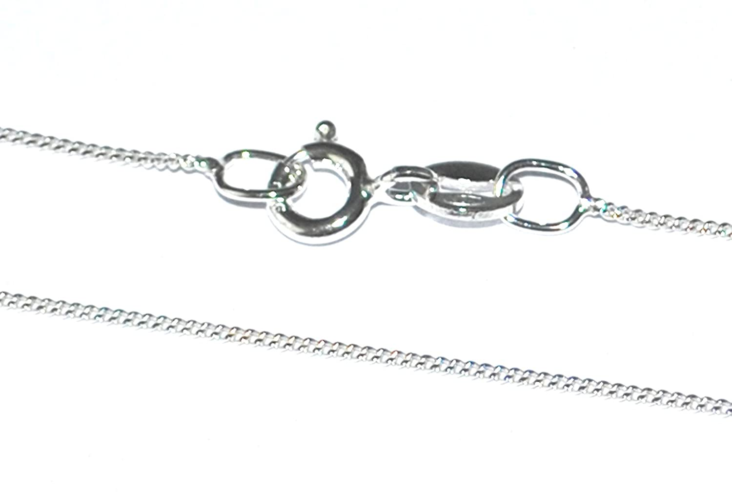 Markylis - Sterling Silver Curb Chain Necklace - 16, 18, 20, 24, 26, 28, 30, 32 inch - UK SELLER