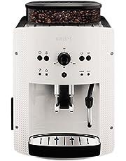 """Krups - EA8105 - Machine à Café Automatique avec Buse Vapeur """"Cappuccino"""" - Blanc"""