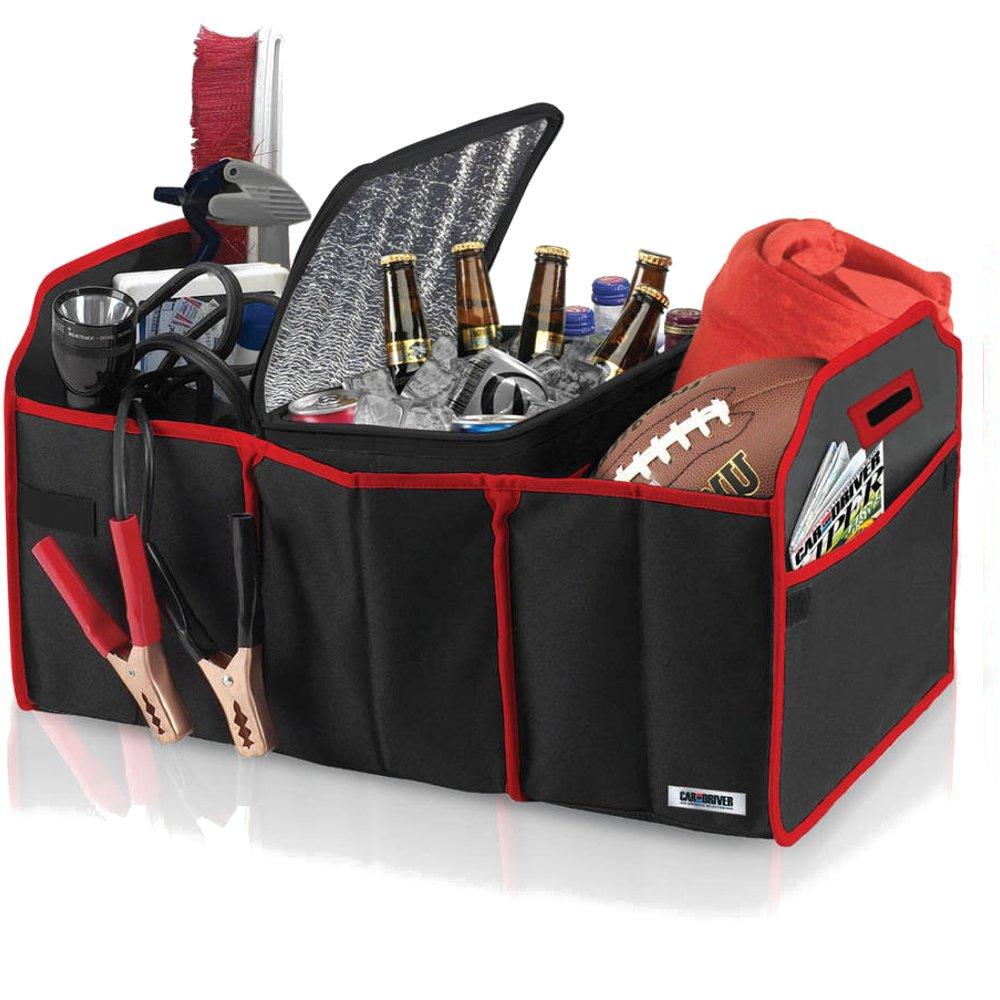PU Health Pure Acoustics 3 In 1 Car Organiser Space Saver Travelling Supplies Organiser, Black
