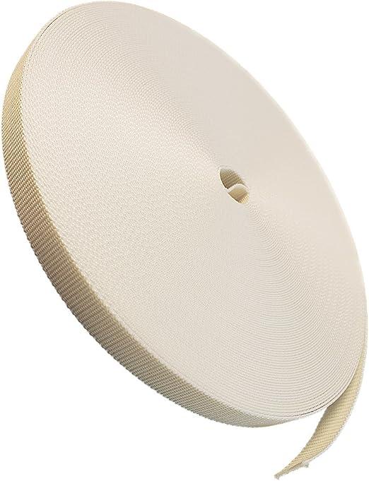Gurtband 23mm Breite Farbe grau 50m-Rolle Rolladengurt f/ür Rolladen