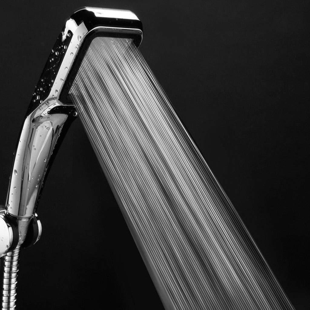 FiedFikt Cabezal de ducha con 300 agujeros de alta presi/ón,cabezal de ducha fijo de mano con potente pulverizador de elevaci/ón,ahorro de agua,montaje en pared,alcachofa de ducha