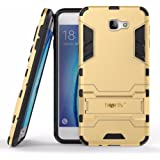 Heartly Graphic Designed Armor Back Case For Samsung Galaxy On7 (2016) / Samsung Galaxy J7 Prime Sm-G610F / Samsung Galaxy On Nxt - Mobile Gold