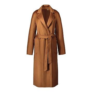 FuweiEncore Abrigo de Cachemir de Doble Cara para Mujer Abrigo de Lana de Cachemira Ondulado, Caramelo, M (Color : -, tamaño : -): Amazon.es: Hogar