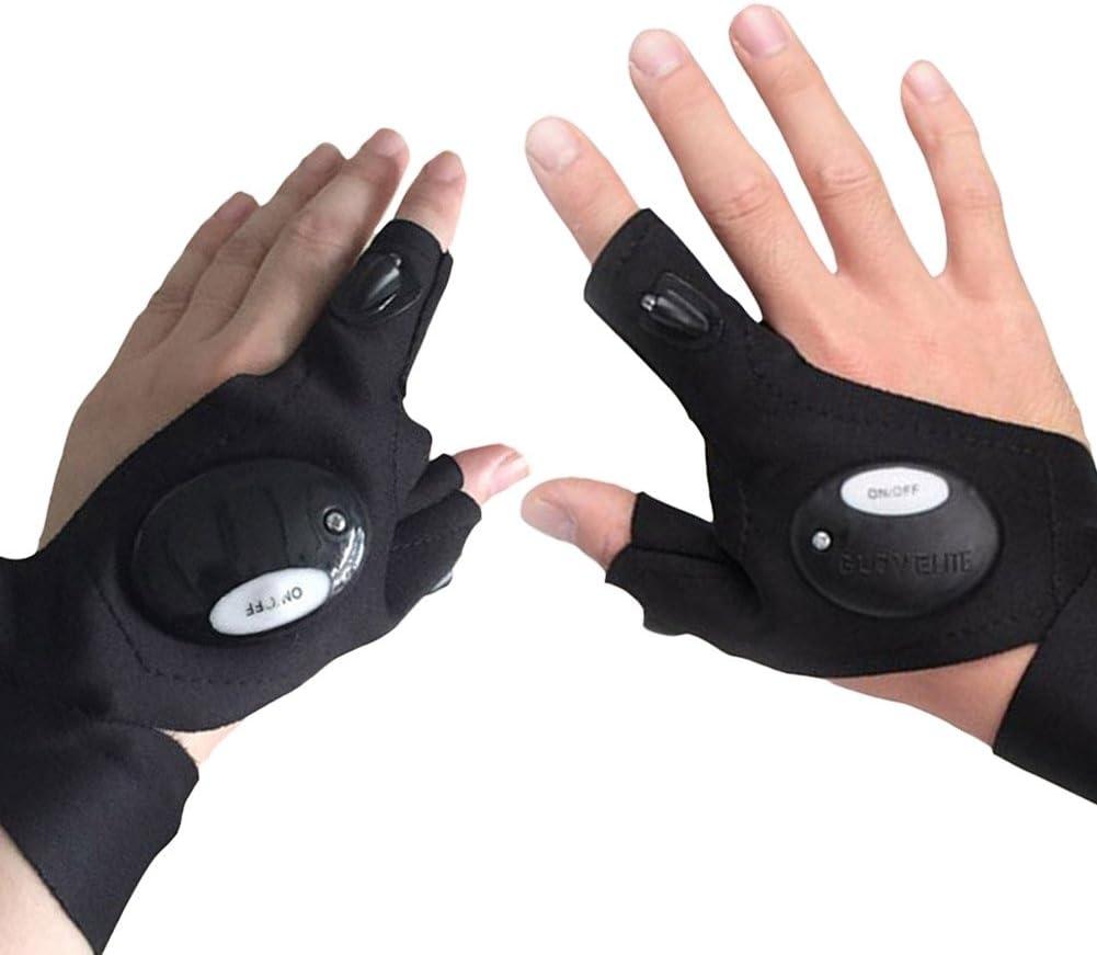 Not/überlebens Elektrische Outdoor Nachtangeln Glove f/ür die Reparatur und Arbeiten in Dunkelheit Orte Wandern Gusspower LED Taschenlampe Angeln Handschuh Camping