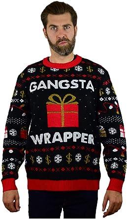 Gangsta Wrappa Sweatshirt Funny Rapper Fun Father Christmas Christmas Jumper