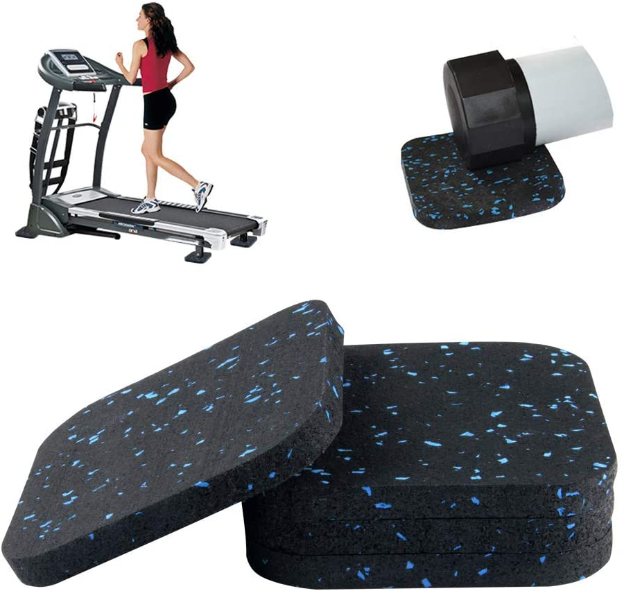 Anaoer Treadmill Mat Exercise Equipment Mat with High Density Rubber for Hardwood Floors and Carpet Protection