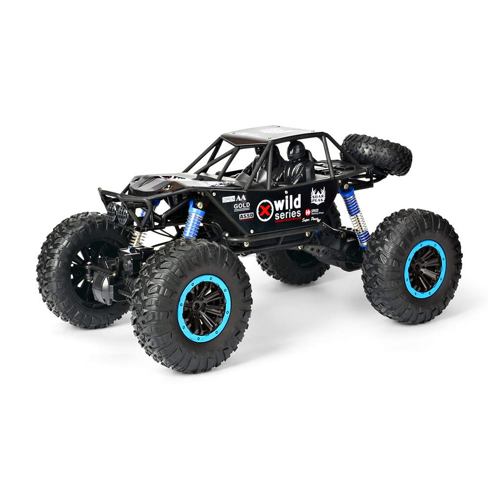 Sonmer 1:10 4WD Off Road High Speed RC Car,With 2.4GHz Radio Control System,Perfect Christmas Birthday Gift for Kids(Above 8 Age) (Black)