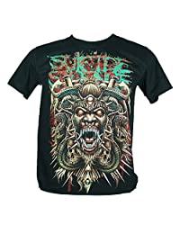 Suicide Silence Large Size New! T-Shirt (God Of Reptiles) 1129