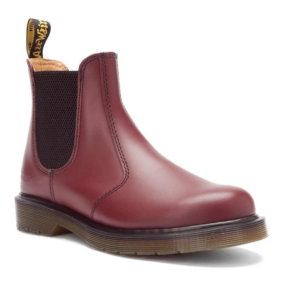 Dr. Martens Men's 2976 Boot B00FMZPZ4Y 10 UK/Women's 12 Men's 11 M US|Cherry Red Smooth Leather