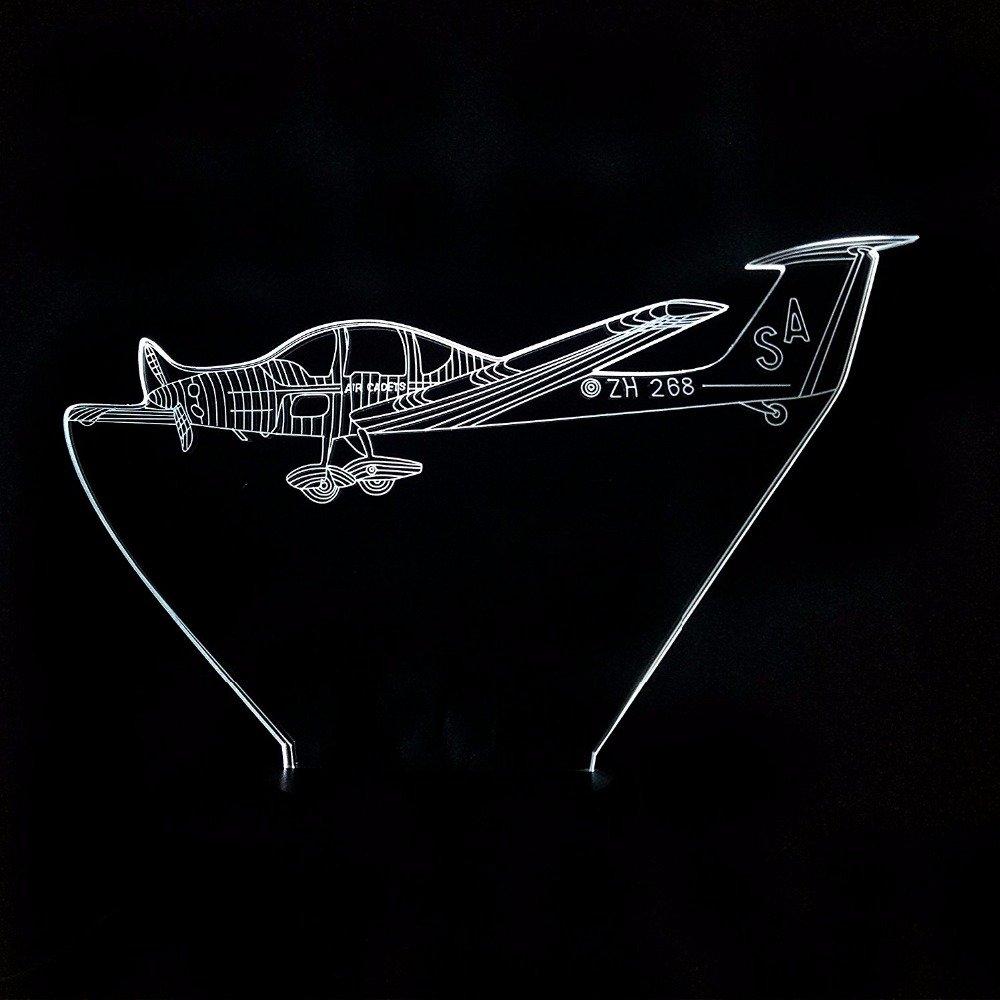 Luz nocturna 3D lámpara de mesa de modelismo para helicópteros ...