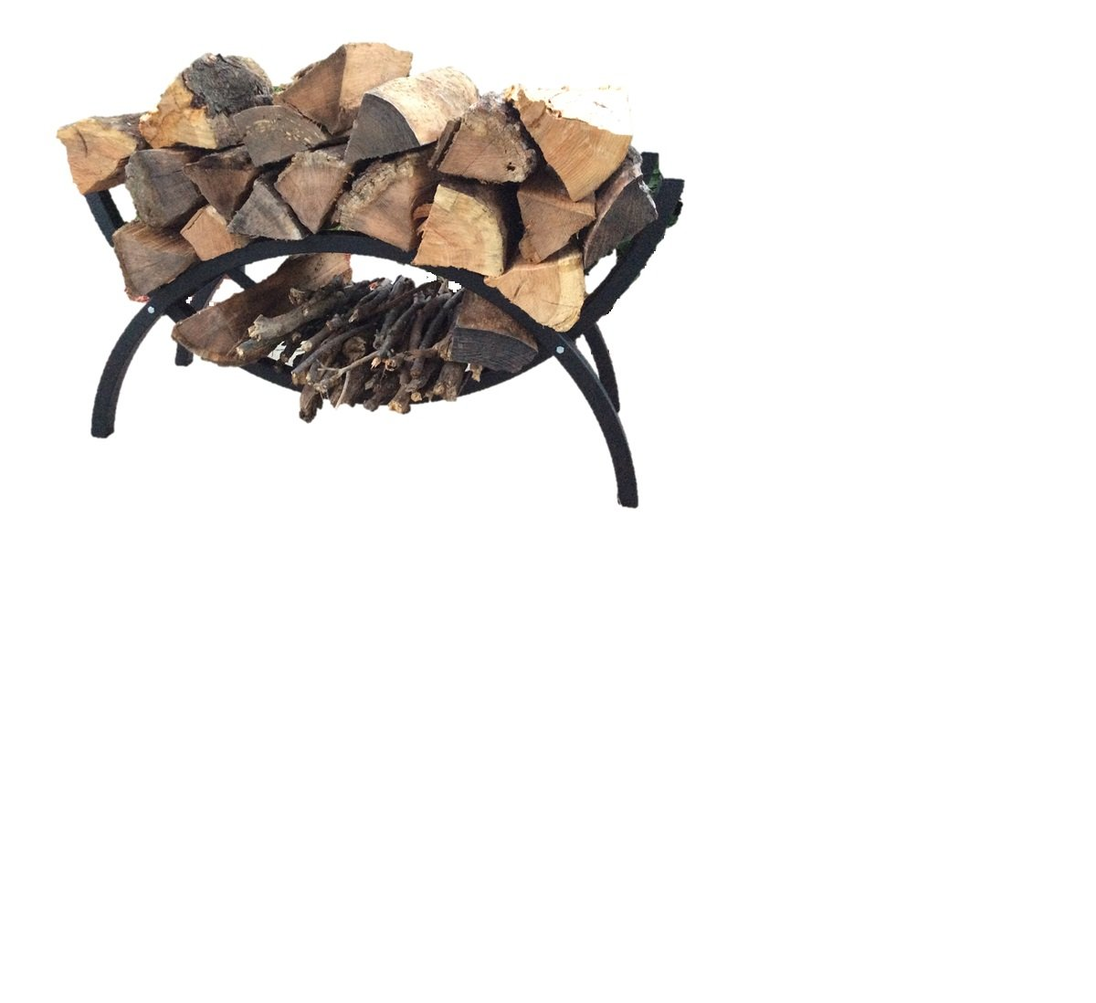 Woodhaven Small Mini Crescent Firewood Rack ALEXANDER MFG 39 CRES