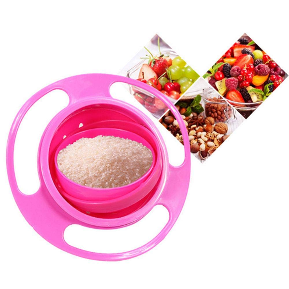 Kobwa Baby Gyro Bowl 360 Dgree Rotation Anti Spill Premium Gyroscopic Bowl Dishwasher Safe Toy Tableware for Children of All Ages