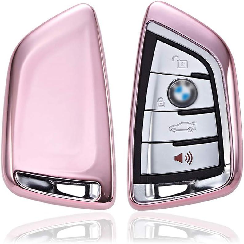 Auto Schlüssel Silikon Schutz Hülle Pink für BMW 1er 2er 3er 4er