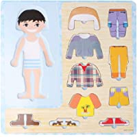 Wooden Puzzle Toddlers Educational Toy Kids Preschool Cool In Summer And Warm In Winter Chunky Jigsaw Board