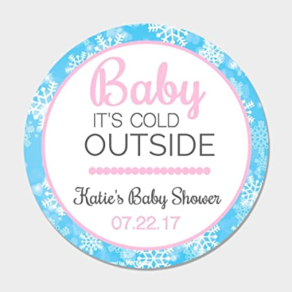 Amazon 40 Personalized Baby Its Cold Outside Pink Shower Favor