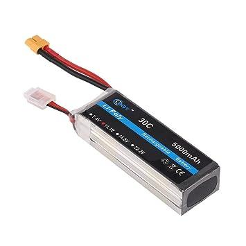 DoMoment 11.1V 5000mAh 30C XT60 Conector de Enchufe Li-Poly ...