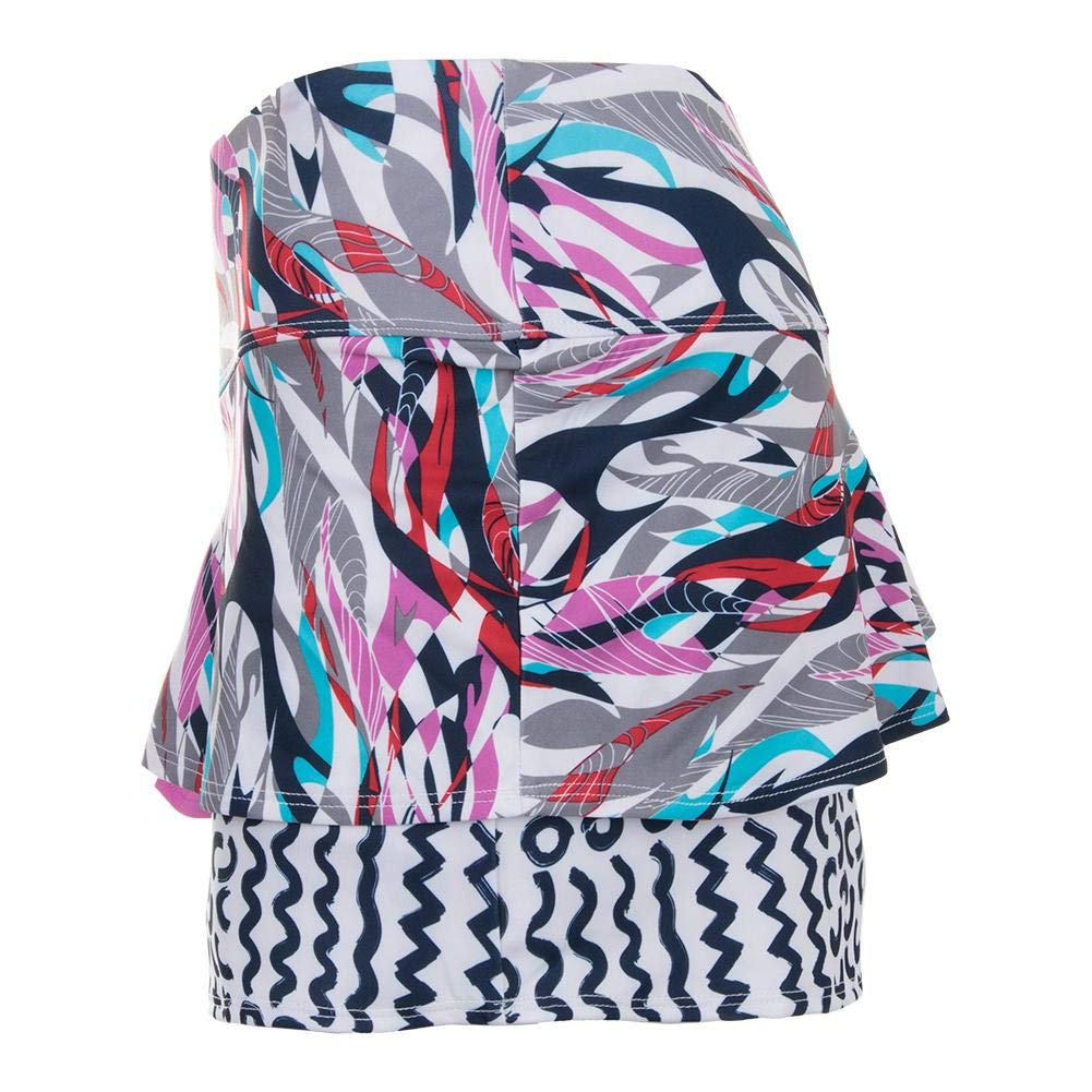 Boll/é Womens Mix It Up Multi-layer Print Tennis Skirt With Built In Short