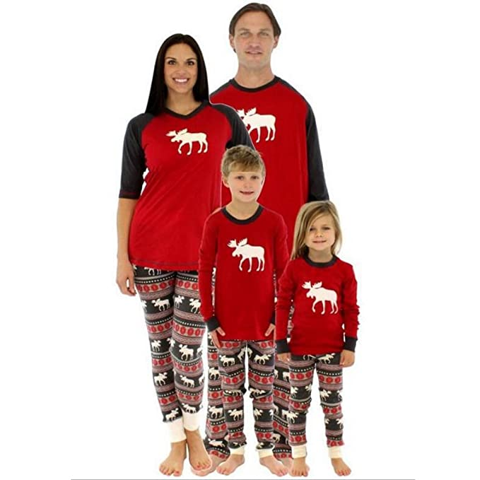 Moose Family Christmas Pajama Sets by iPretty