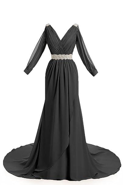 MariRobe Women\u0027s Greek Style Beaded Pleat Long Sleeve